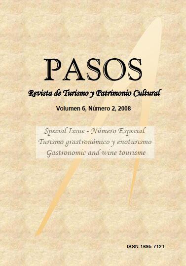 Ver Vol. 6 Núm. 2 (2008): PASOS Revista de Turismo y Patrimonio Cultural 06(2), 2008. Special Issue: Turismo gastronómico y enoturismo
