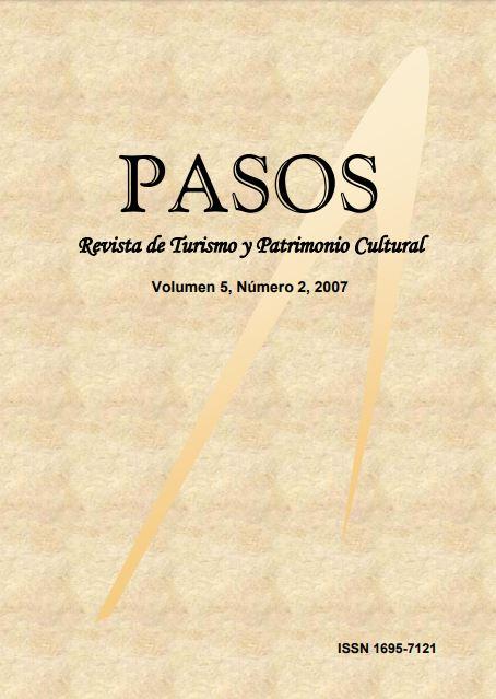 Ver Vol. 5 Núm. 2 (2007): PASOS Revista de Turismo y Patrimonio Cultural 05(2), 2007