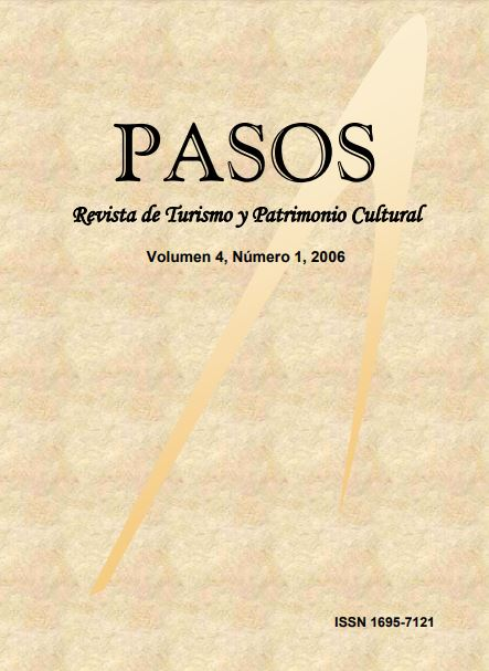 Ver Vol. 4 Núm. 1 (2006): PASOS Revista de Turismo y Patrimonio Cultural 04(1), 2006