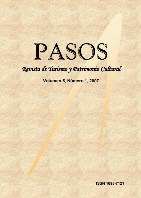 Ver Vol. 5 Núm. 1 (2007): PASOS Revista de Turismo y Patrimonio Cultural 05(1), 2007